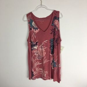 Lucky Brand | Size 1X Graphic Floral Tank